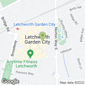Map of The Chiropody Surgery in Letchworth, hertfordshire