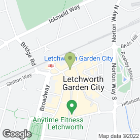 Map of Letchworth Clinic in Letchworth Garden City, hertfordshire