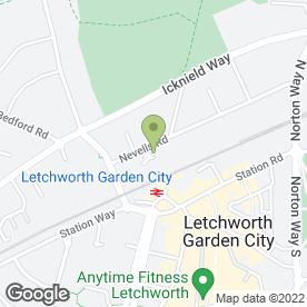 Map of Nevells Road Surgery in Letchworth Garden City, hertfordshire