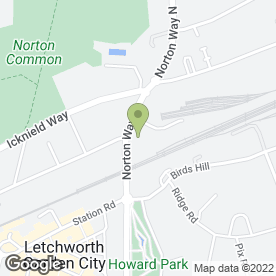 Map of Norton Way Honda in Letchworth, hertfordshire