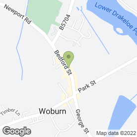 Map of The Woburn Brasserie in Woburn, Milton Keynes, buckinghamshire