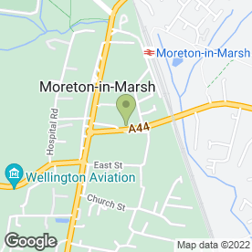 Map of Mann Cottage Surgery in Moreton-In-Marsh, gloucestershire