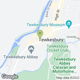 Map of Abbey Bookkeeping in Tewkesbury, gloucestershire