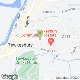 Map of The Coldicott Veterinary Clinic in Tewkesbury, gloucestershire