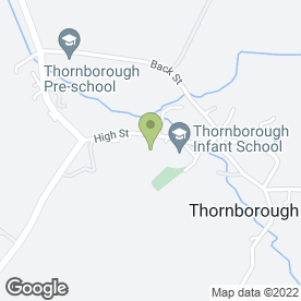 Map of Thornborough Infant School in Thornborough, Buckingham, buckinghamshire