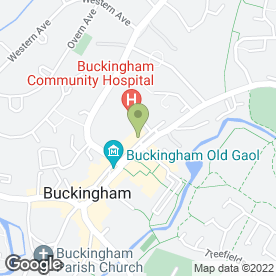 Map of Buckingham Hospital in Buckingham, buckinghamshire