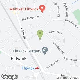 Map of MVS in Flitwick, Bedford, bedfordshire