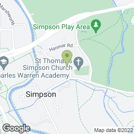 Map of Five Acres Nursing Home in Simpson, Milton Keynes, buckinghamshire