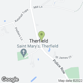 Map of Fox & Duck in Therfield, Royston, hertfordshire