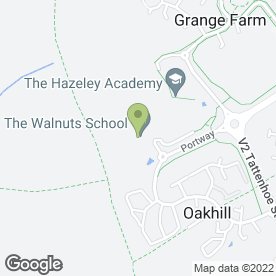 Map of The Walnuts School in Hazeley, Milton Keynes, buckinghamshire