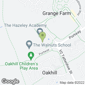 Map of Hazeley Secondary School in Hazeley, Milton Keynes, buckinghamshire