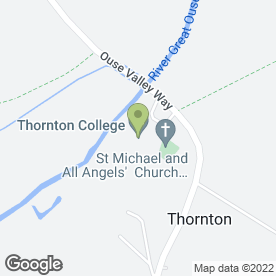 Map of Thornton College in Thornton, Milton Keynes, buckinghamshire