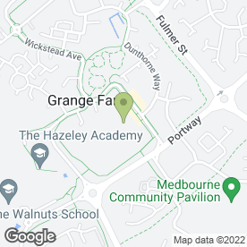 Map of Christ the Sower Primary School in Grange Farm, Milton Keynes, buckinghamshire