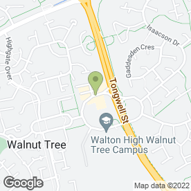 Map of Walnut Dental Centre in Walnut Tree, Milton Keynes, buckinghamshire