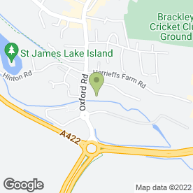 Map of Brackley MOT & Service Centre Ltd in Brackley, northamptonshire