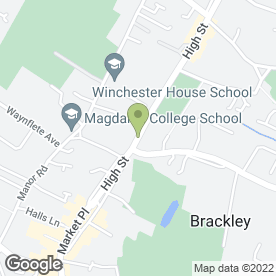 Map of Blencowe Chartered Accountants in Brackley, northamptonshire