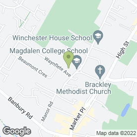 Map of Magdalen College School in Brackley, northamptonshire