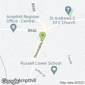 Map of Arena Indian Cuisine in Ampthill, Bedford, bedfordshire