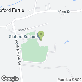 Map of Sibford School in Sibford Ferris, Banbury, oxfordshire