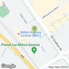Map of Omega Travel in Milton Keynes, buckinghamshire