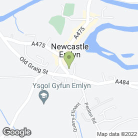 Map of Heating & Boilers (Dyfed) Ltd in Newcastle Emlyn, dyfed