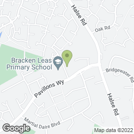 Map of Bracken Leas School in Brackley, northamptonshire