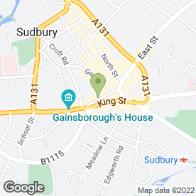 Map of Greggs in Sudbury, suffolk