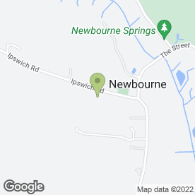 Map of Ipswich Delivery Service in Newbourne, Woodbridge, suffolk