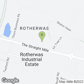 Map of Rotherwas Service Station in Hereford, herefordshire