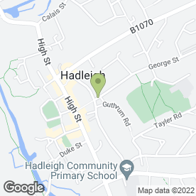 Map of Taylor & Sons Property Agents in Hadleigh, Ipswich, suffolk
