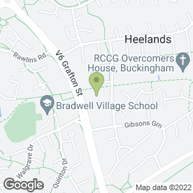 Map of Heelands School in Heelands, Milton Keynes, buckinghamshire