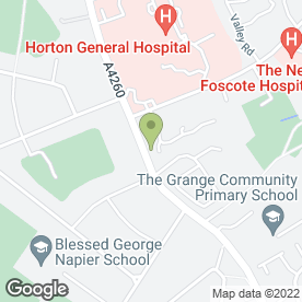 Map of Hightown Surgery in Banbury, oxfordshire