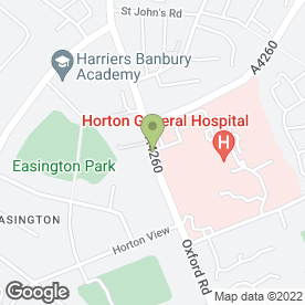 Map of Horton Day Nursery in Banbury, oxfordshire