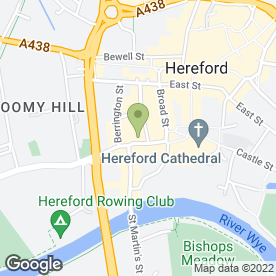 Map of ARENA LETTINGS in Hereford, herefordshire