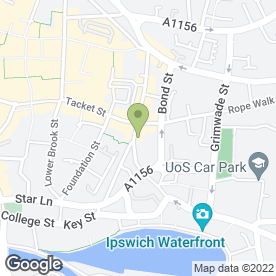 Map of CAROLYN HAMMOND HEALTH & BEAUTY CLINIC in Ipswich, suffolk