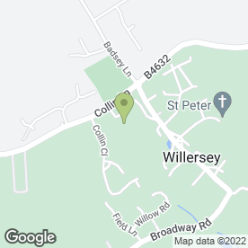 Map of Artronics in Willersey, Broadway, worcestershire