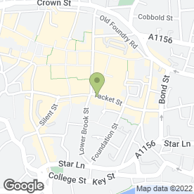 Map of The Wine Bar in Ipswich, suffolk