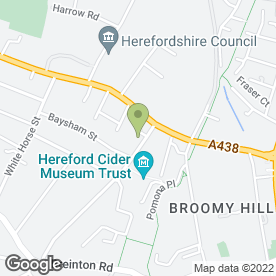 Map of The Laurels Veterinary Group in Hereford, herefordshire