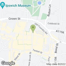 Map of Frobishers Wigs Ltd in Ipswich, suffolk