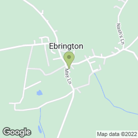 Map of Ebrington Arms in Ebrington, Chipping Campden, gloucestershire