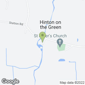 Map of RBfloorlays in Hinton-on-the-Green, Evesham, worcestershire