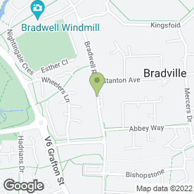 Map of Bradville Sub P.O in Bradville, Milton Keynes, buckinghamshire