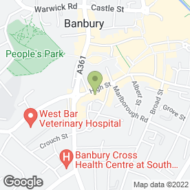 Map of Martin & Co in Banbury, oxfordshire