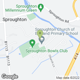 Map of Jigsaw Pre-School in Sproughton, Ipswich, suffolk