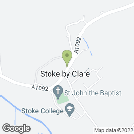 Map of Stoke-by-Clare Sub P.O in Stoke By Clare, Sudbury, suffolk