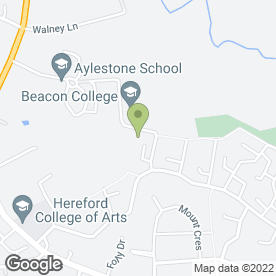 Map of Broadlands Bright Sparks Playgroup in Hereford, herefordshire