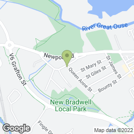 Map of Napoli's New Bradwell Fish Bar in New Bradwell, Milton Keynes, buckinghamshire