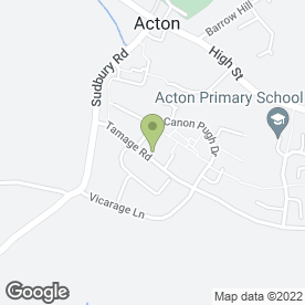 Map of Felicity's Driver Training in Acton, Sudbury, suffolk