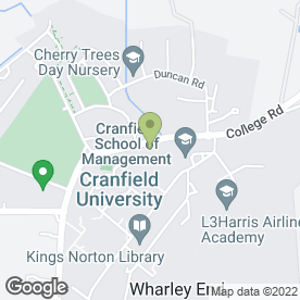 Map of NatWest Bank plc in Cranfield, Bedford, bedfordshire