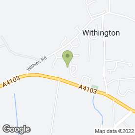 Map of Withington P.O in Withington, Hereford, herefordshire